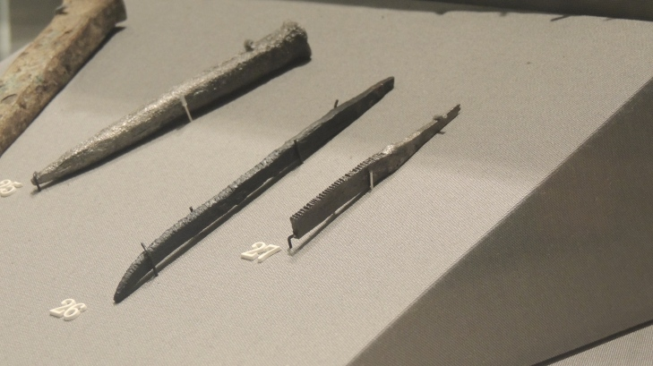 Viking woodworking files on display in the National Museum of Ireland