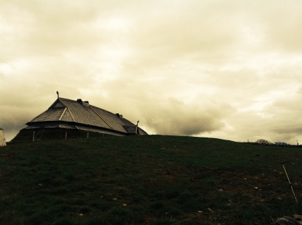 The Chieftain's Longhouse in Lofoten; looking very Viking.