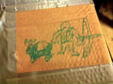 My things were not so well hidden to Pedar, the son of Terje Boe; who tagged my box for me while I was gone.