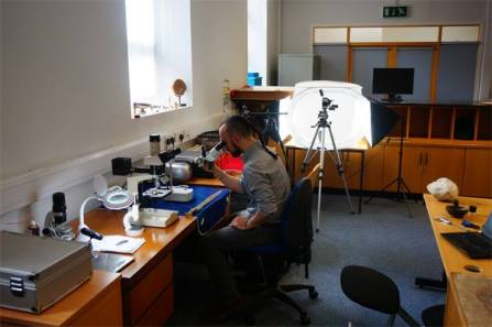 Working away at our new Material Cultures Lab at UCD School of Archaeology