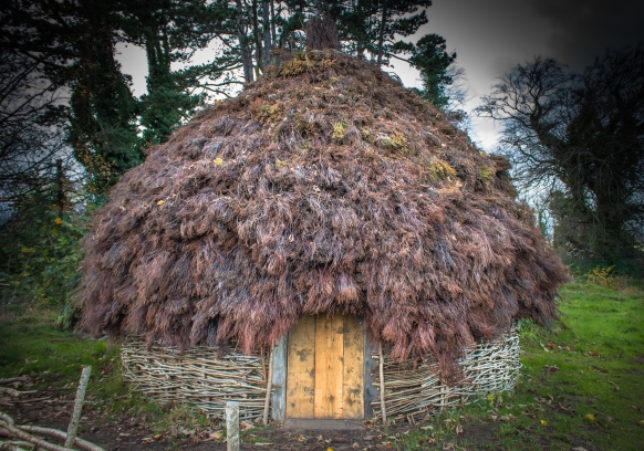 The Early Medieval Irish Roundhouse at UCD Centre for Experimental Archaeology, built by Brendan O'Neill