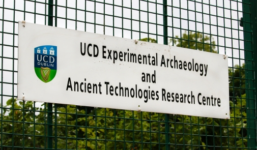 The entrance to UCD Centre for Experimental Archaeology