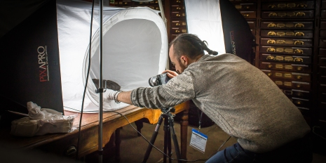 In the National Museum of Ireland - Making a 3D Image of a 3,000 year old wooden shield