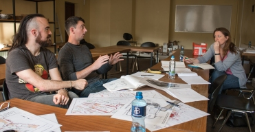 Stephen Fox, Brendan O'Niell and Dr. Eileen Reilly discuss the beginning plans of our Viking House